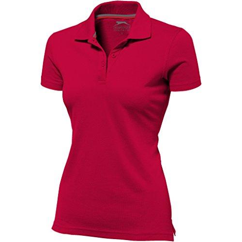 Slazenger Advantage Kurzarm Damen Polo (M, Rot)