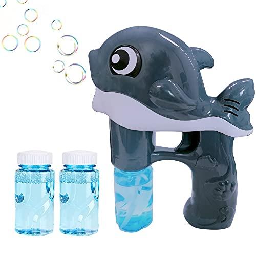 Jiahuade máquina de Burbujas niños,Pistola de Burbujas automatica,Pistola de Burbujas de Agua ,Pistola de Burbujas para niños,Pistola de Burbujas,soplador de Burbujas (B)