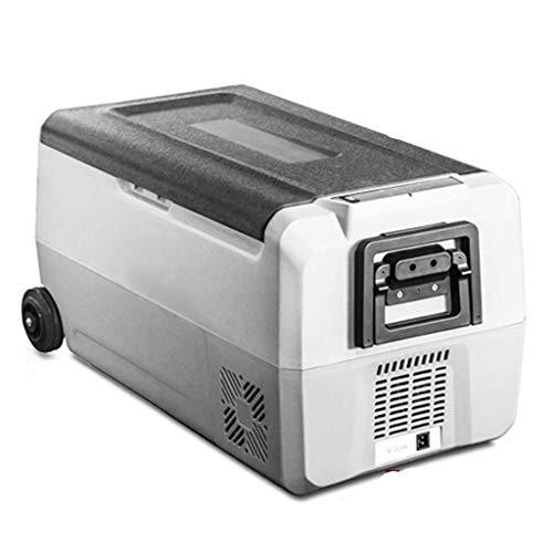 SHKUU Refrigerador de automóvil pequeño Compresor de refrigeración Modo de refrigeración Dual Camión Hogar Uso Dual 12v24v Velocidad de congelación y refrigeración Palanca Conveniente