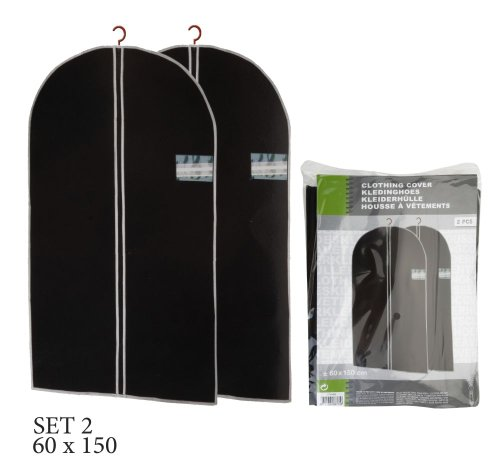 ASIS nettrade kledinghoezen kledinghoezen - selecteerbare hoeveelheid - 150 cm lang x 60 cm breed - kleur: zwart (4 stuks)