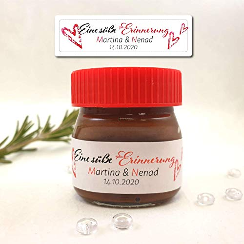 33 Nutella Sticker Aufkleber Etiketten Gastgeschenke Hochzeit Kommunion Konfirmation Geburtstag Personalisiert