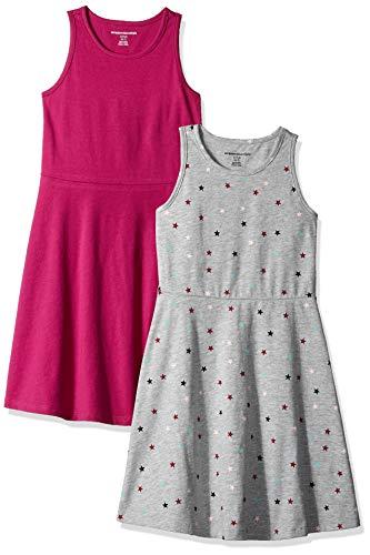 Amazon Essentials Lot de 2 Robes débardeurs pour filles,...