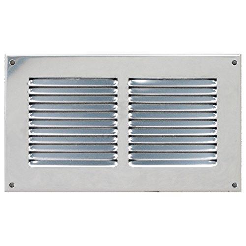 - Grille de ventilation métallique - Grille ventilation métal 240x140mm - Couleur inox