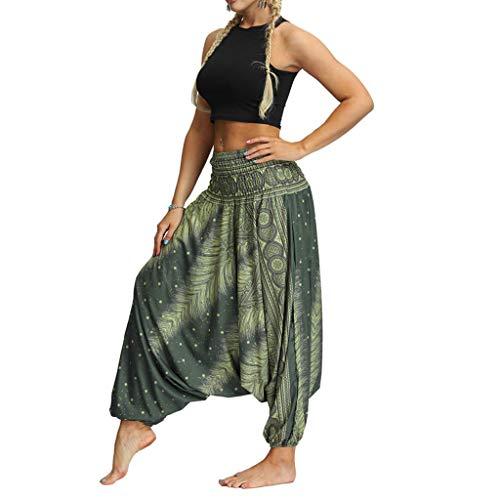 carol -1 Super Weiche Harem Yoga Pilates Hosen, Damen Haremshose Beiläufig Lose Breites Bein Hippie Hose-Hohe Taille BohemienStil Tanzen Yoga Pilates Hosen, Pumphose Aladin Haremshose Hippie Muster