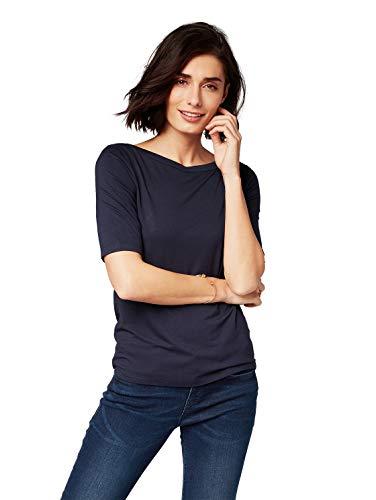TOM TAILOR Damen 1007950 T-Shirt, Blau (Sky Captain Blue 10668), M