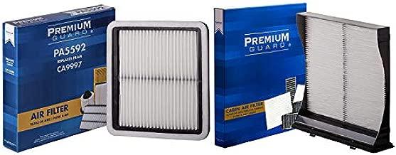 PG Kit Engine Air and Cabin Filter AC1004  Fits 2009-18 Subaru Forester, 2010-19 Outback, 2010-19 Legacy, 2008-16 Impreza, 2013-15 XV Crosstrek, 2016-17 Crosstrek, 2013-19WRX STI, WRX