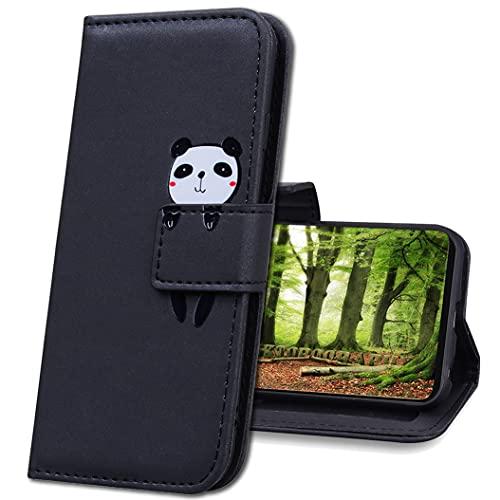 IMIRST Funda para Xiaomi Redmi Note 10 5G, Creativo Linda Dibujos Animados Animal Billetera Carcasa Funda Libro de Cuero con Tapa Magnética Carcasa para Xiaomi Redmi Note 10 5G. HM Black Panda