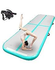 Uppblåsbar gymnastik Airtrack yoga uppblåsbar tumlande madrass crossfit uppblåsbar matta rytmisk gymnastik luftspår fitness luftspår med elektrisk luftpump 3 m 4 m 5 m 6 m