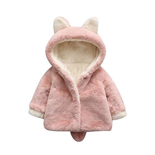 Fulltime (TM) - Abrigo de forro polar resistente al viento para bebés y niñas
