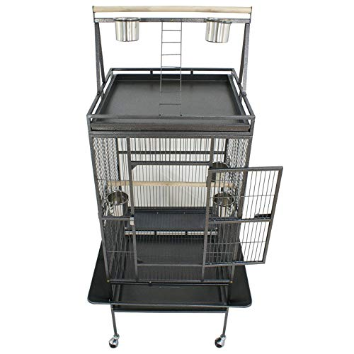 Super Deal 53/61/68 Large Bird Cage Play Top Parrot Chinchilla Cage Macaw Cockatiel Cockatoo Pet House, 68 inch