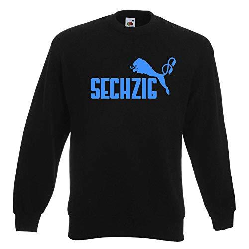 1860 Herren Sweatshirt SECHZIG Löwen Ultras Pullischwarz-blau-L