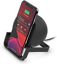 Belkin Wireless Charging Speaker (Wireless Charging Stand + Bluetooth Speaker Charger) Charge While Listening to Music, Streaming Videos, Video Calls, Black, 10W Stand + Speaker