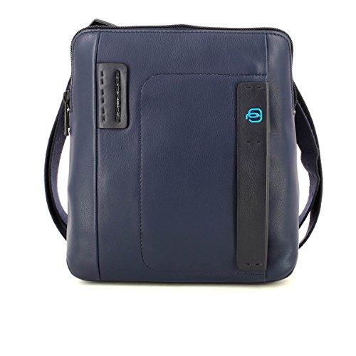 Piquadro Pulse Borsello, Pelle, Blu, 26 cm