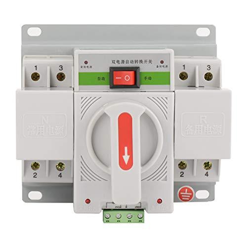 banapoy Interruptor de Transferencia automática, Interruptor, 220V 63A para Fuente de alimentación de Edificios de oficinas