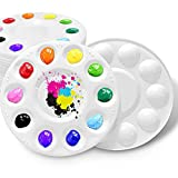 Hulameda 28 Pcs Paint Tray Palettes Plastic for Kids to Put Cupcake and Art Painting...
