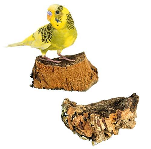 Mr. Petz - Korksitzbrett ALLE GRÖSSEN - 100% Bio Vogel Zubehör Käfigausstattung - Das perfekte Vogelspielzeug in der Vogelvoliere für Wellensittich, Nymphensittich, Papagei & Co - Vogel Sitzbrett