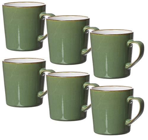 Ritzenhoff & Breker Kaffeebecher-Set Visby, 6-teilig, je 400 ml, Grün, Steinzeug
