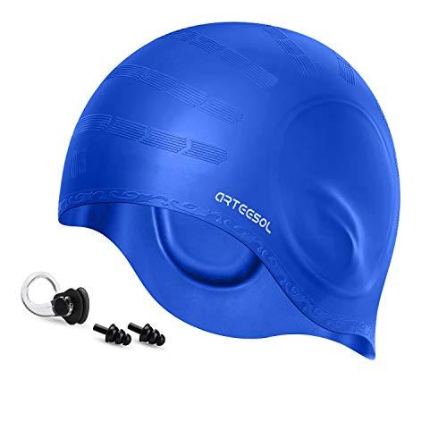 BALNEAIRE Silicone Long Hair Swim Cap for Women,Waterproof Queen Swimming Cap