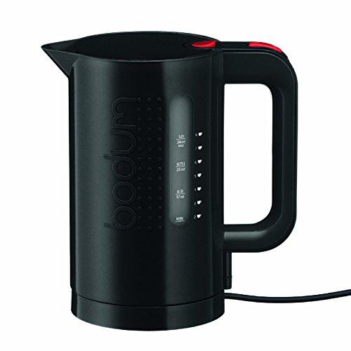 Bodum Bistro Electric Water Kettle, 34 Ounce, 1 Liter, Black (Renewed)