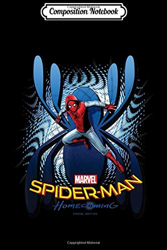 Composition Notebook: Marvel Spider-Man Homecoming Wall Climber Graphic  Journal/Notebook Blank Lined Ruled 6x9 100 Pages