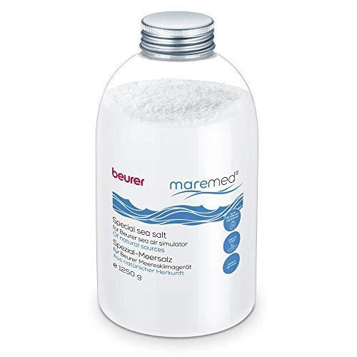 Beurer Spezial-Meersalz 1250 g für die Anwendung mit maremed MK 500 Meeresklimagerät, mehr als 65 Spurenelemente, inkl. Messbecher zur besseren Dosierung