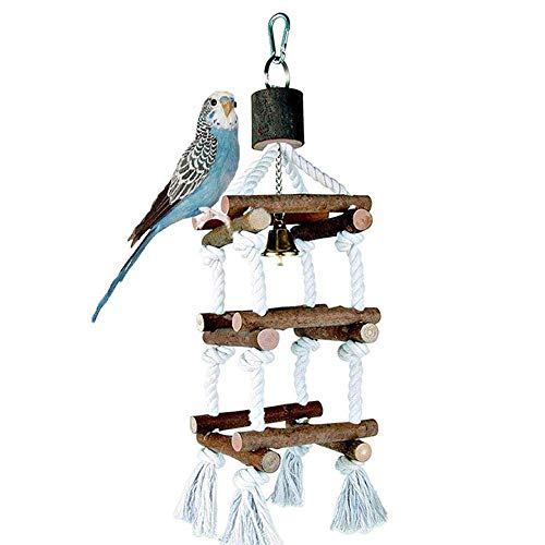Irinay Columpio para Pájaros con 3 Capas De Chic Madera para Loros Periquitos Cacatúas Pinzones Canarios Tamaño De Cacatúa Guacamayos Eclectus Accesorios para Jaulas De Amazon