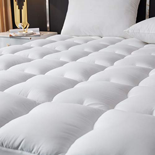 MEETLIFE Mattress Pad Cover Cooling Mattress Toppers, Pillow Top Quilted Fitted Mattress Cover with 8-21 Inch Deep Pocket (Twin XL)