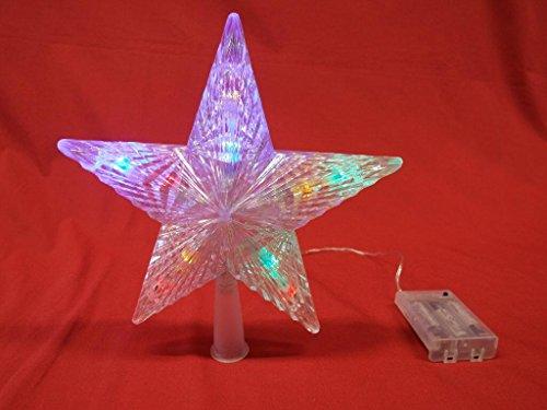 Weihnachtsbeleuchtung Tannenspitze Stern mit bunten LED batteriebetrieben Weihnachtsbaum