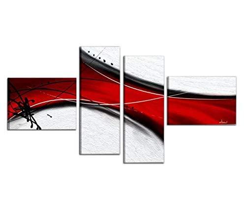 I Colori del Caribe Quadri COMPONIBILI Astratti Dipinti A Mano su Tela Quadro Astratto con MATERICO Bianco Rosso Alta QUALITA' Made in Italy - BRAMANTE
