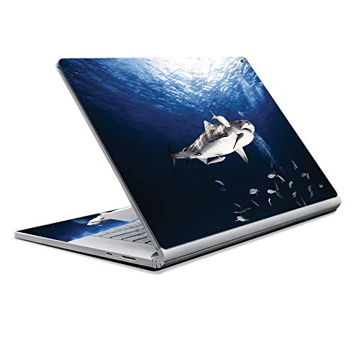 MightySkins Skin Compatible with Microsoft Surface Book 2 13' (2017) - Shark Dive | Protective, Durable, and Unique Vinyl Decal wrap Cover | Easy to Apply, Remove, and Change Styles | Made in The USA