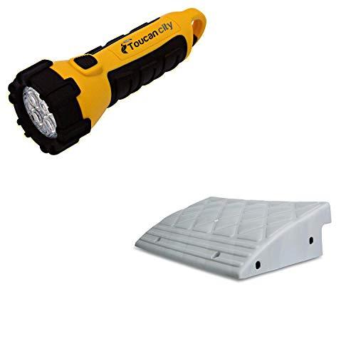 Toucan City LED Flashlight and MAXSA Curb Ramp 20031