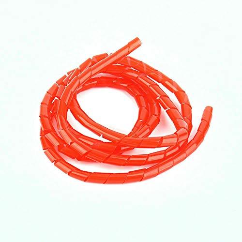 Práctico organizador de cables en espiral de encuadernación de cuero ordenado, gestión de encuadernación de cables en espiral, sistema de cine en casa rojo estable y duradero para telares