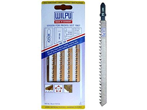 bester Test von trenn biber T-Welle HC34 Länge 100/130 mm, 5 Stichsägen für Holz.  Es kann auch zum Schneiden von Bibern als Laminat verwendet werden.