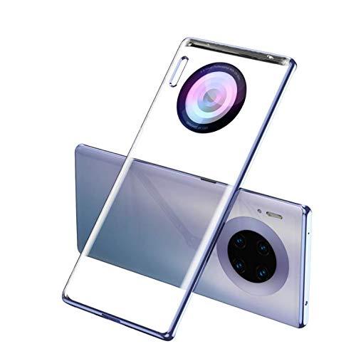Coque Huawei mate 30 pro [Ultra Hybrid] Bumper Souple, Dos Rigide et Transparent, Protection - Air Cushion, Coque Compatible avec Huawei mate 30 pro (argent)