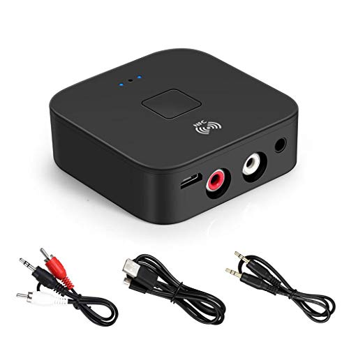 Bascar Blueteeth Audio Receiver Aux 2RCA Audio Interface Mobiltelefon NFC Wireless Bluetooth Adapter BT 5.0 RCA/3,5 mm AUX CE / ROHS Zertifizierung Für Heimkino Stereoanlage und Autoradio