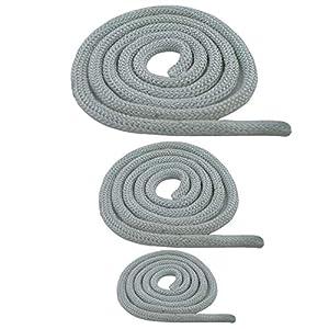 Jumbo-Shop – Junta redonda para estufa (cordón resistente al calor, para puerta, 10 mm, 1 m), color blanco