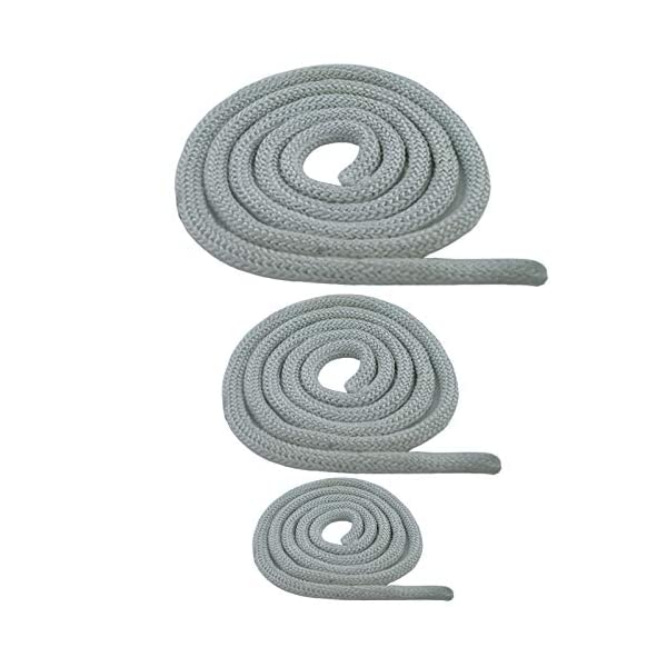 Junta para horno, estufa, junta redonda, cordón resistente al calor, para puerta de 6,8,10,12,14,16,18,20 mm, blanco, 1…