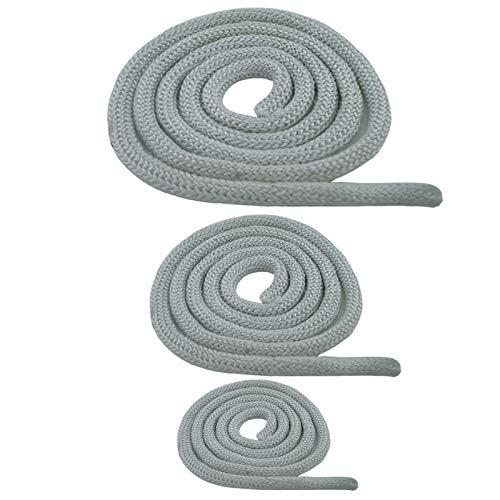 Junta para horno, estufa, junta redonda, cordón resistente al calor, para puerta de 6,8,10,12,14,16,18,20 mm, blanco, 1 – 100 m