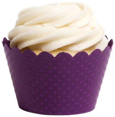 Dress My Cupcake Standard Royal Purple Cupcake Wrappers, Set of 100