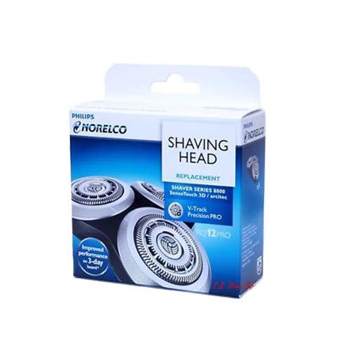 rq12+ Replacement Head For Philips Series 8000 (SensoTouch 3D), Arcitec, and 12xx models, V-Track Precision blades,8-direction ContourDetectHeads,RQ12+, RQ12/62, RQ12/72 are the same model