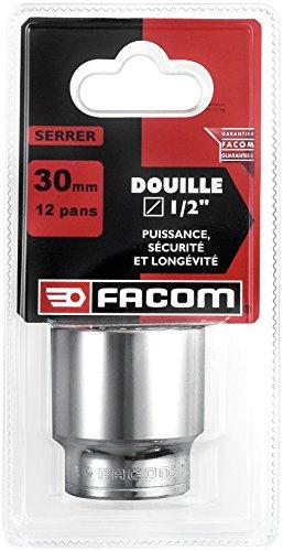 Facom SC.S - Chiave a bussola poligonale 1/2' 12 facce 30 mm Rosso/Nero