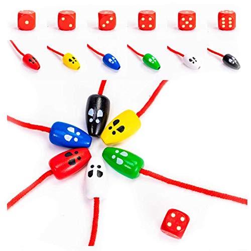 ShunFuET Juguete de Madera para atrapar Ratones para niños, Juguete Interactivo Interactivo para niños creativos, Juego de Mesa para Gatos y Ratones para desarrollar Habilidades motoras Finas