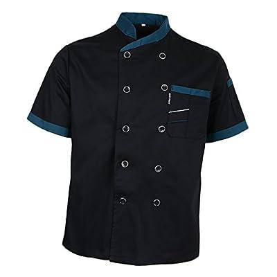 Prettyia Unisex Summer Breathable Executive Chef Jacket Coat Kitchen Bakery Uniform Short Sleeves 5 Colors Chef Apparel M-2XL