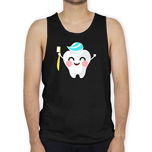 Shirtracer Karneval & Fasching - Zahnfee mit Zahnpasta - M - Schwarz - Verkleidung Kostüm - BCTM072 - Tanktop Herren und Tank-Top Männer