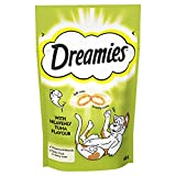 Dreamies Cat Treats, Tasty Snacks with Tempting Tuna Flavour, 8 Pouches of 60 g