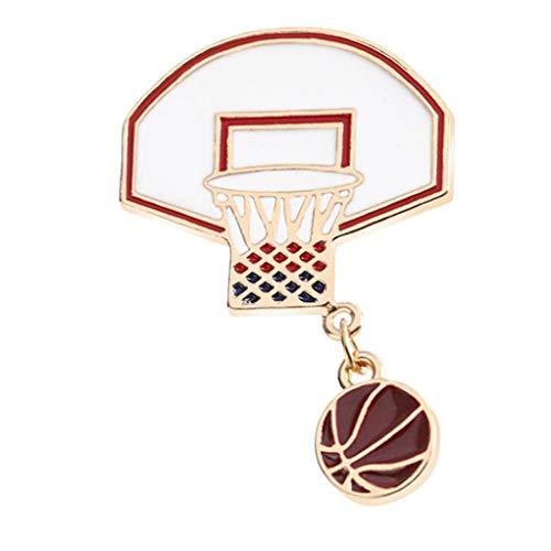 Garispace Sport Thema Brosche Pins Basketball Dunk Basketball Brosche für Basketballfans