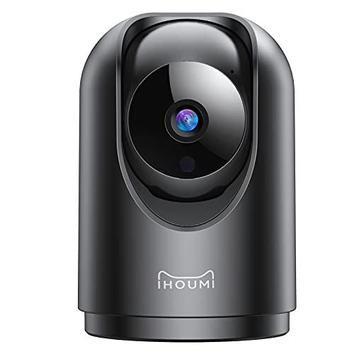 Telecamera Wi-Fi Interno, IHOUMI 1296P videocamera sorveglianza interno wifi,con Super Visione Notturna / Audio Bidirezionale / Tracciamento del Movimento / Allarme APP