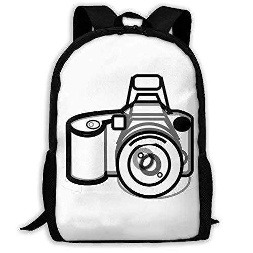 Rucksack, Erwachsenen-Rucksäcke Mädchen Schultertasche Schultaschen Schule Saison Kamera gezeichnete Reisetaschen