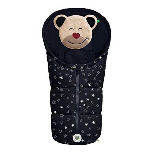 Odenwälder Fußsäckchen Mucki Gr. 0 Babyschale fashion sparkling stars schwarz