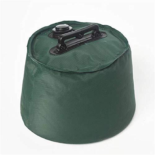 SJHFG Bolsa de agua de peso redonda para playa, paraguas de playa, soporte de bolsa de contrapeso a prueba de fugas, accesorios de bolsa de arena fija, verde 6l